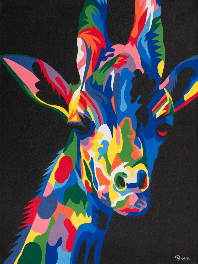 Pop-Art Giraffe