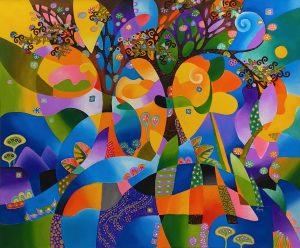 картина-за-офиса-картина-за-дома-ръчно-рисувана-картина-Аgung-001-ArtVibes